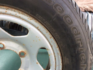 Brand new tires with rims off Chevy tracker