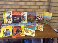 Collection of vintage annuals