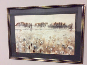 Vintage 1972 watercolour painting by Gary Saunders / SOLD