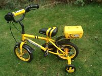 "Apollo Digby First Bike, 12"" wheels, yellow"