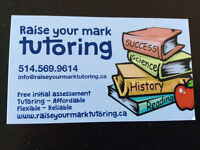 "Need a tutor? Call ""Raise Your Mark Tutoring"" now !"