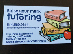 """Need a tutor? Call """"Raise Your Mark Tutoring"""" now ! West Island Greater Montréal image 1"""