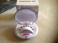 Battery operated manicure set