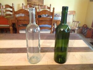 Wine Bottles - Fully DE labelled & Clean - Clear or Coloured