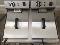 Double basket deep fat fryer