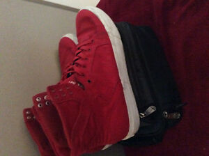 Red supra high tops size 10.5