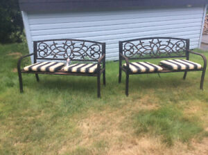 Cast Iron Lawn Benches