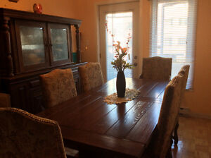 Real Wood Dining Room Set West Island Greater Montréal image 1