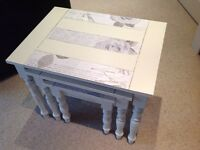 Shabby chic nest tables