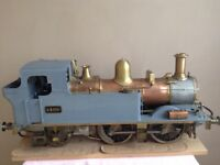 """Steam Train (model) 5"""" Scale Steam Locomotive & 5 Board Wagon"""