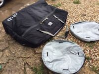 Dhb bike bag, with wheel covers and