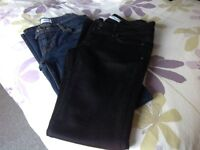 Topshop ladies jeans - size 10 - 2 pairs vgc £5 both