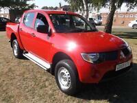 2010 Mitsubishi L200 Double Cab DI D 4Life 4WD 134Bhp 4 door Pick Up