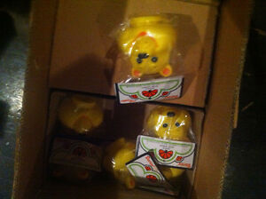 Vintage Candice Care Bear heads from the 1980s
