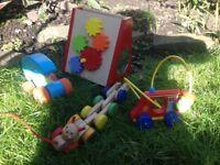 Wooden toys (x4)