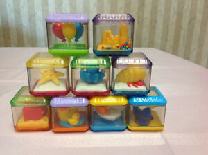 Fisher Price Set of 9 Peek-a-boo Blocks in a stand $10 Windsor Region Ontario image 2
