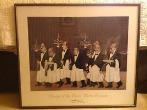 """Guy Buffet """"Charge of the flower Bottle Brigade"""" Framed Picture"""