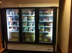 True 3-door display freezer