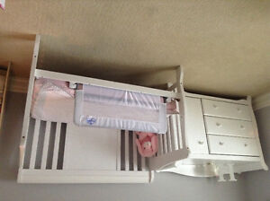 Just add baby! Beautiful Crib, dresser and change table