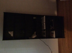 Black IKEA 6 level shelving unit