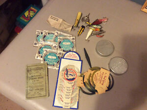 Vintage Lot of Fishing Lures & Other Items