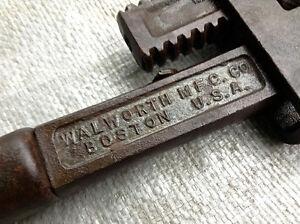 Stillson's Patent Wrench - circa 1878 - Walworth Mfg. Co. Boston Windsor Region Ontario image 3