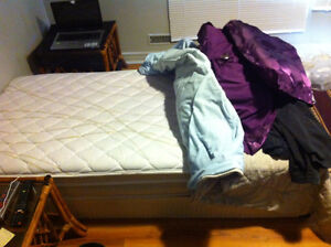 SINGLE BED---EXCELLENT SHAPE--ALMOST NEW---MUST PICK UP TODAY