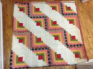 Antique log cabin quilt for sale London Ontario image 2