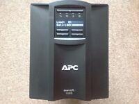 APC smart ups smt 1500i line interactive tower.