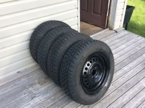 Like new Set of Winter Tires on Rims