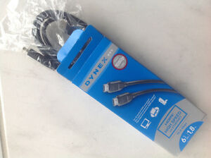 HDMI high speed cable, 6 ft long,full 1080 HD, brand new $5