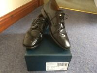 Men's John Lewis Size 7 Black Leather Smart Dress Shoes