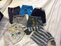 Boys 0-3 months clothes bundle trouser, T-shirt, baby