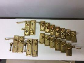 Brass Georgian style door handles