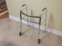 Walker for sale ( collapses for easy storage / transport) 40$  A