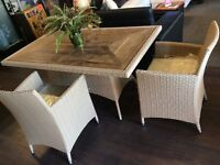 Mars- Resin wicker Dining set @3rdihomedecor.ca
