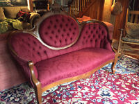 Victorian love seat and 2 matching chairs