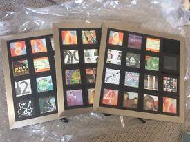 3x Sliding puzzle style photo frames