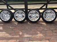 "Mini F55/56 17""alloy wheels,tyres,TPS valves and centre caps."