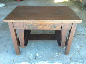Vintage Mission Arts and Crafts style desk