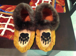 Moosehide slippers