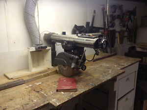 "Craftsman 10"" radial arm saw complete with table"