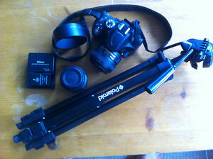 Nikon D5200 with accessories
