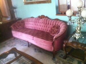3 Pce French Provincial Sofa and Chair, plus Loveseat