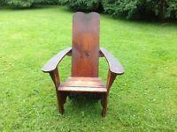 Antique Adirondac chair.