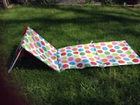 Portable beach/ picnic mat with back rest