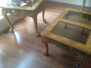 Beautiful set of coffee table Windsor Region Ontario image 2