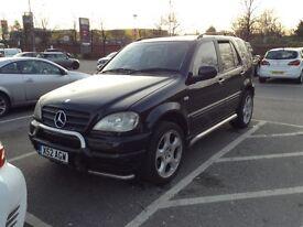 Mercedes ML W163 270 CDI 2000 black Brabus special edition