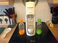 Soda Stream with bottles and half a cylinder of gas
