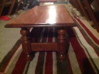 Solid oak coffee table by Velda.